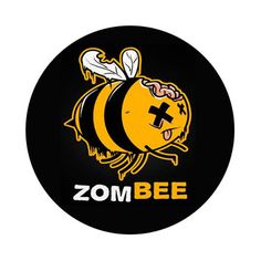ZOMBEE Zombie Humor 2.25 Inch Pinback Button or by GalaxyofGoods, $1.99