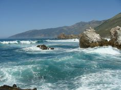 Teal Waves of Big Sur California  #landscape #teal #waves #california #photography