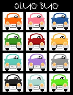 Funny!  Car bingo for Slug bugs.  My kids will love this for the long road trip!
