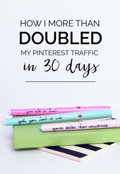 how I more than doubled my Pinterest traffic