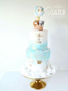 Cute cotton candy clouds cake