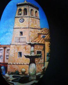 Iglesia de villamalea #piedras #piedraspintadasamano #handmade #piedraspintadas