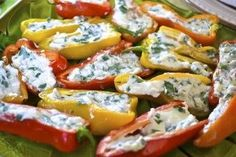 stuffed mini peppers - I made these last night at they were delish!
