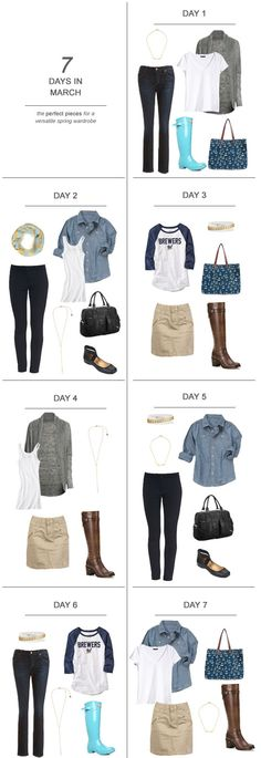 7 Days in March : The Perfect Pieces for a Versatile Spring Wardrobe #ootd #fashion #sahm #wahm #mom #momfashion #shopping
