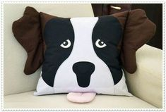 Tie Pillows, Sewing Pillows, Sewing Crafts, Sewing Projects, Crochet Pillow Cases, Patchwork Pillow, Flower Pillow, Boy Quilts, Animal Pillows