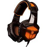 Sades 738 Stereo Headset plug Over Ear Wired White Stereo Headset Headband Gaming Earphone Bass Noise Canceling Isolating Headphones with Microphone Breathing Colorful LED light for PC Gamer Gaming Tablet Laptops Mobile Phone By AFUNTA -Orange Headphones With Microphone, Headphone With Mic, Stereo Headphones, Gaming Earphones, Playstation 4 Accessories, Mac Laptop, Noise Cancelling Headphones, Logitech, Led