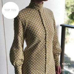 Sophia's entry Crosses, Knots, Competition, High Neck Dress, Sewing, Clothing, Shirts, Inspiration, Fashion
