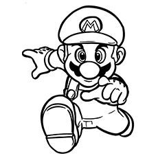 Super Mario coloring pages for kids printable free Coloring