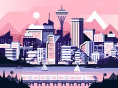 City Scape by Nick Slater - Dribbble