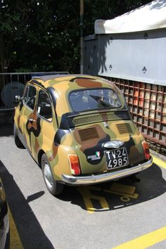 Fiat 500, Camouflage, Wheels, Military, Vehicles, Car, Camo, Automobile, Military Camouflage