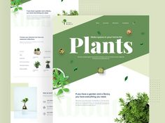 Plant shop landing page designed by Arifur Rahman Tushar ➔ for Orizon: UI/UX Design Agency. Connect with them on Dribbble; the global community for designers and creative professionals. Design Sites, Graphisches Design, Layout Design, Homepage Design, Graphic Design, Flat Design, Logo Design, Profile Website, Design Innovation