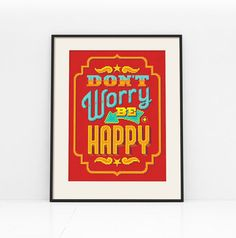 Don't Worry Be Happy  Cross Stitch Pattern Digital by Stitchrovia