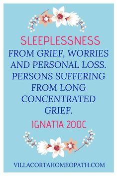 This lovely remedy will help you get back to sleep if you are going through difficult times and you are experiencing grief or worry. Natural Remedies For Insomnia, Natural Health Remedies, Holistic Healing, Natural Healing, Natural Medicine, Herbal Medicine, Stress And Mental Health, Homeopathy Medicine, Natural Remedies
