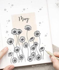A gorgeous May bullet journal cover by ig@ - #diy