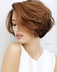 Short hair with much top length