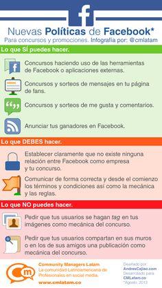 Nuevas políticas de concursos en FaceBook #infografia
