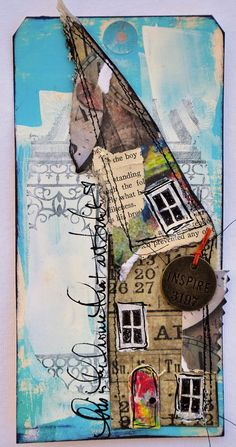 By Diane Wakley love her style. Author and teahes online classes. Uses lots of Tim Holtz stuff
