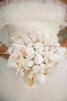 Beach Wedding Bouquet. Love this idea. Because I can't have real flowers anyways