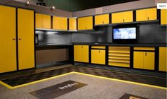 Garage workshop.  Tyler you should have a kitchen like this instead of the garage.  How cool would that be?