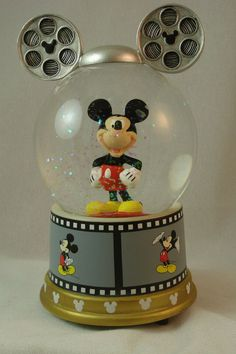 """Mickey's Film Roll Musical Snowglobe  """"You Oughta Be in Pictures"""" Disney 19521 #WestlandGiftware"""