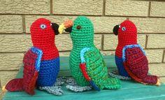 Crochet Bird Patterns, Crochet Birds, Knit Crochet, Owl Bird, Parrots, Yarn Crafts, Fiber Art, Crochet Projects, Tatting