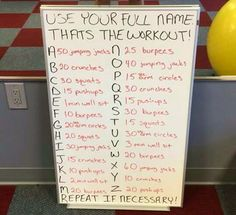Exercise moves from your name