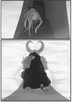 Loki and Sigyn by nanihoo