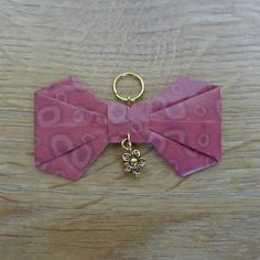 pendentif noeud origami