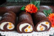 Recept Roládky s tvarohovým krémem a meruňkami Parfait, Sushi, Rolls, Food And Drink, Pudding, Ethnic Recipes, Desserts, Kuchen, Postres