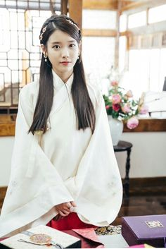 IU in the 2016 South Korean drama Moon Lovers or Scarlet Heart: Ryeo. Time period is the Goguryeo Dynasty.