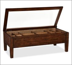 pottery barn shadow box coffee table | beach house cues