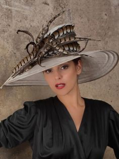"Hats ~ Classic ""Elegant"" Look ~ Vivien Sheriff Millinery Feather Hat, Stylish Hats, Art Textile, Church Hats, Hats For Women, Ladies Hats, Fancy Hats, Kentucky Derby Hats, Wearing A Hat"