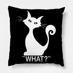 What - What - Pillow Pillow Cover Design, Pillow Covers, Moose Art, Throw Pillows, Cats, Animals, Pillow Case Dresses, Cushions, Gatos