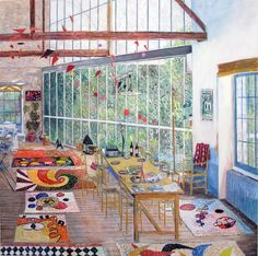 Damian Elwes ~ Calder's Home in Saché, France (2015)