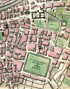 Modern Plan Of The City And Environs Of Dublin Published as the Act directs for W. Wilson & sold by the Booksellers and Printsellers in London & Dublin, June ~ Love Ireland, Ireland Travel, Essex Street, Ireland Pictures, Fleet Street, Dublin City, Houses Of Parliament, Vintage Maps, Ancient Artifacts