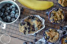 Paleo Blueberry Banana Muffins