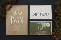 Nature Themed Winter Wedding Inspiration - great invitation suite with adorable typography featured on Green Wedding Shoes