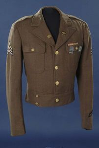 Eisenhower Jacket - a shorter, more comfortable military jacket mostly worn for non-combat purposes post WWII