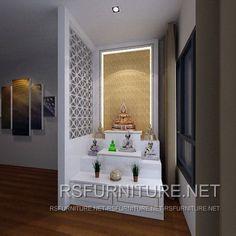 Mandir Design, Pooja Room Design, Design Bedroom, Bed Furniture, Furniture Projects, Furniture Design, Room Interior, Interior Design, Interior Ideas