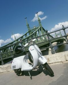 My 50 special in our capital, Budapest ❤ at Liberty Bridge #50 special #vespa #capital #bridge