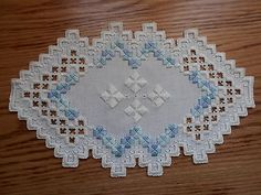 Tropical Waters Hardanger Doily