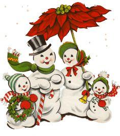 Retro Clipart Snowman - Vintage Christmas Clipart Free { - Free Cliparts on ClipartWiki Vintage Christmas Images, Retro Christmas, Vintage Holiday, Christmas Pictures, Christmas Snowman, Christmas Greetings, Christmas Ornaments, Family Christmas, Vintage Images