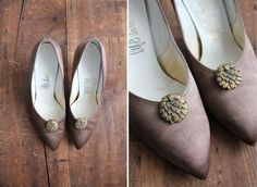 1950s silk heels / vintage satin pumps / size 65 by allencompany, $78.00