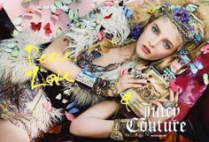 Peace, Love & Juicy Couture Fragrance, adv by Steven Meisel, model Daria Strokous hippy Look Hippie Chic, Hippy Chic, Boho Chic, Hippy Girl, Juicy Couture, Mode Hippie, Estilo Hippy, Kate Spade, Steven Meisel