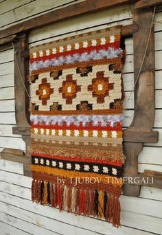 Crocheted Rug Decorative Floor Country Home Decor Eco Wool Wall Hanging Bedroom Living Room Ethnic Knitted Home Textile Plush Crochet Rug Crochet Wall Art, Crochet Wall Hangings, Crochet Home, Crochet Motif, Weaving Textiles, Weaving Art, Knit Rug, Wool Rug, Wool Wall Hanging