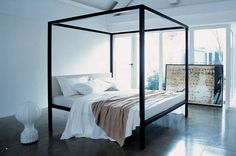 Double bed / canopy / contemporary / with upholstered headboard MILLEUNANOTTE by Emaf Progetti Zanotta