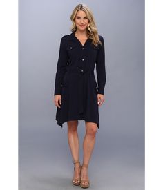 A stylish option that is equally perfect for work or play!. A sophisticated shirt dress with a uti...