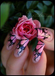 Pretty Pink Nails fashion colorful nails girl nail polish stylish colorful nails nail art nail trends nail designs