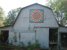 quilt square on barn  Visit & Like our Facebook page! https://www.facebook.com/pages/Rustic-Farmhouse-Decor/636679889706127