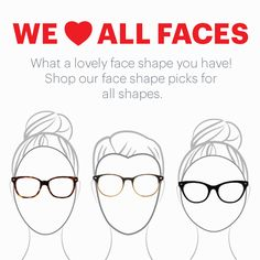 Find your face shape and perfect glasses match http://www.glasses.com/glasses-face-shape-women